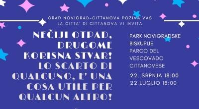 Izdoji sve/ fai la differenza – 22/7/2020 u/alle 18,00 h/ore, Novigrad/Cittanova